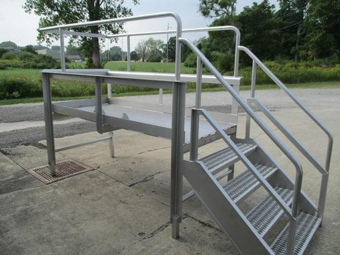 "Used Work Platform, Stainless Steel; 39""W x 7' 6""L"