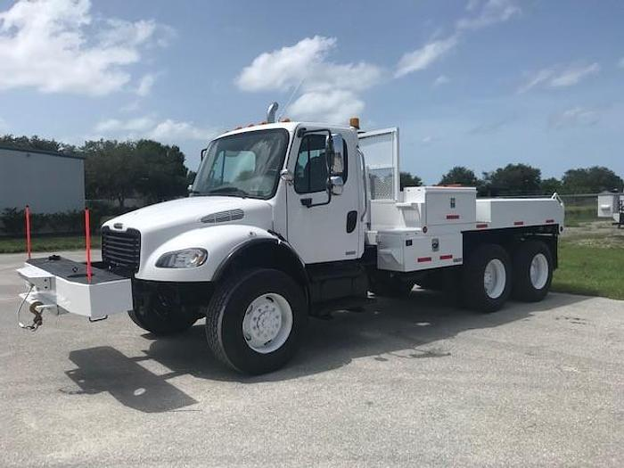 Used 2007 Freightliner M2-106 6x6 12ft Flatbed Winch Truck - C87323