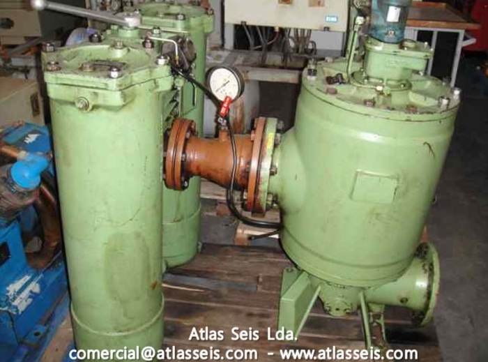 Used Boll & Kirch Duplex Filter Type 2.05 (DN100) + Lub. Oil Automatic Filter