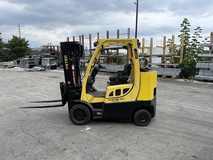 Used 8,000 POUND HYSTER MODEL S80FTBCS MFG. 2013 5,700 HOURS WITH FORKS