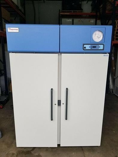 Used Thermo Scientific REL5004A24 Laboratory Double Door Refrigerator 115V