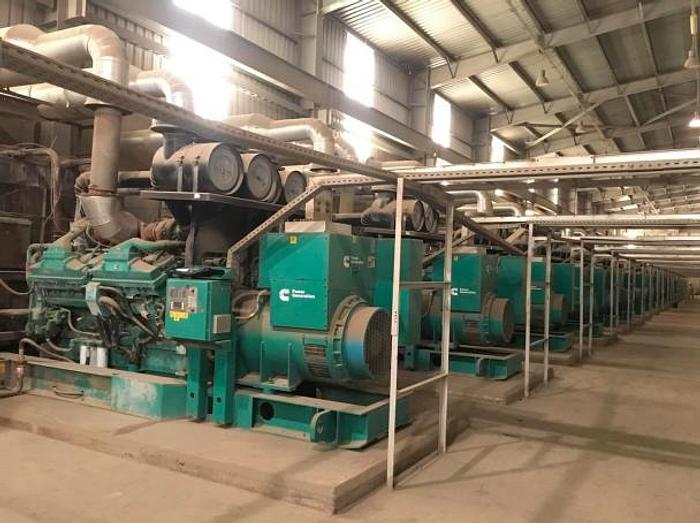 40 MW 2011 Used Cummins C2250 D5 Diesel Gensets Power Plant