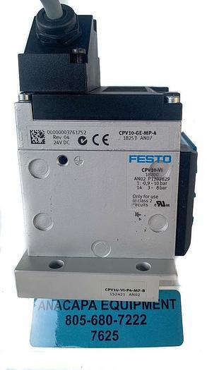 Used Festo CPV10-GE-MP-4 AN07 Valve Manifold Block,CPV10-VI, CPV10-VI-P4-M7-B (7625)W
