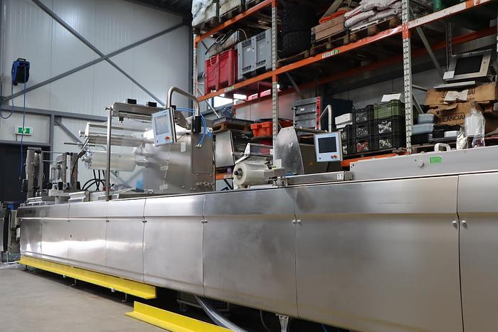 Used Multivac R535 thermoformer with Mettler Toledo inspection