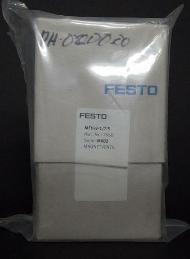 Festo MFH-3-1/2S 7960 Solenoid Valve, NEW in Box (3867)