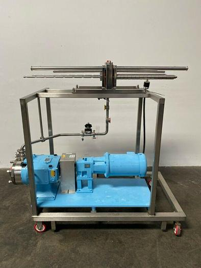 Used Millipore Pellicon 1 Filter Holder w/ Waukesha 045/U2 Positive Displacement Pump