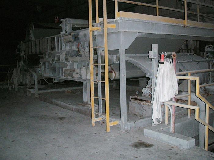 "Used 2.1M (85"") KVAERNER HYMAC 80MSL DEWATERING BELT PRESS"