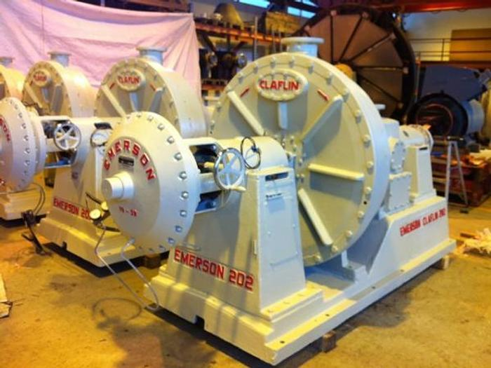 Used EMERSON CLAFLIN 202 CONICAL REFINER 250 KW (335 HP) 50-200 TPD