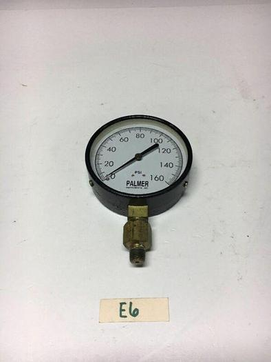 """Used Palmer Instruments Gauge 0-160 Psi 1/2"""" NPT Warranty! Fast Shipping!"""