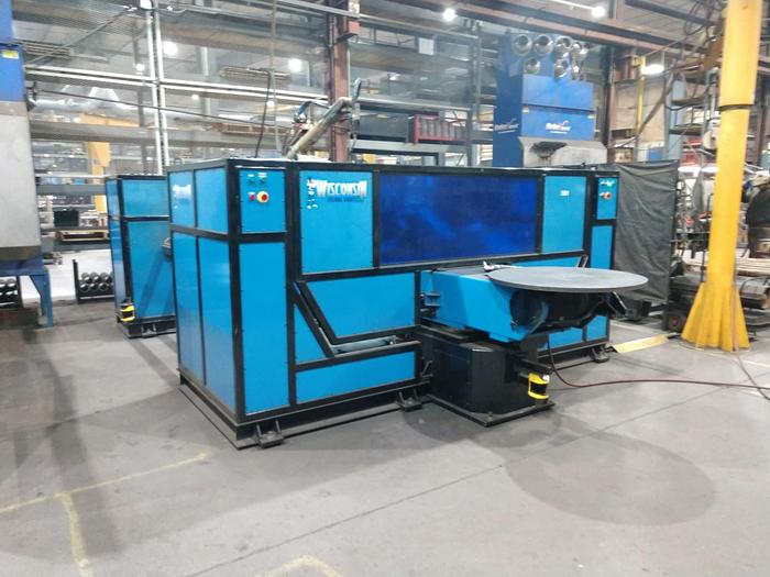 "OTC  WELD CELL WITH A/B TIL & ROTATE TABLES AND DUAL 72"" CENTER  TRUNIONS INSTALLED IN 2016"