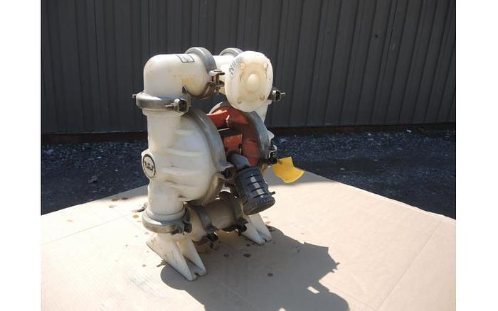 "Used USED DIAPHRAGM PUMP, 1.5"" X 1.5"" INLET & OUTLET, POLYPROPYLENE"