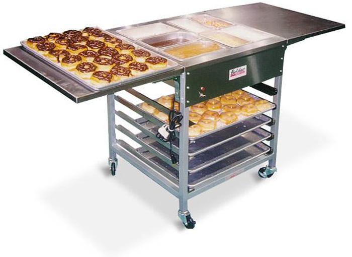 Donut Finishing CenterFINISHING TABLE WITH 3 HEATED BOWLS 4 UNHE