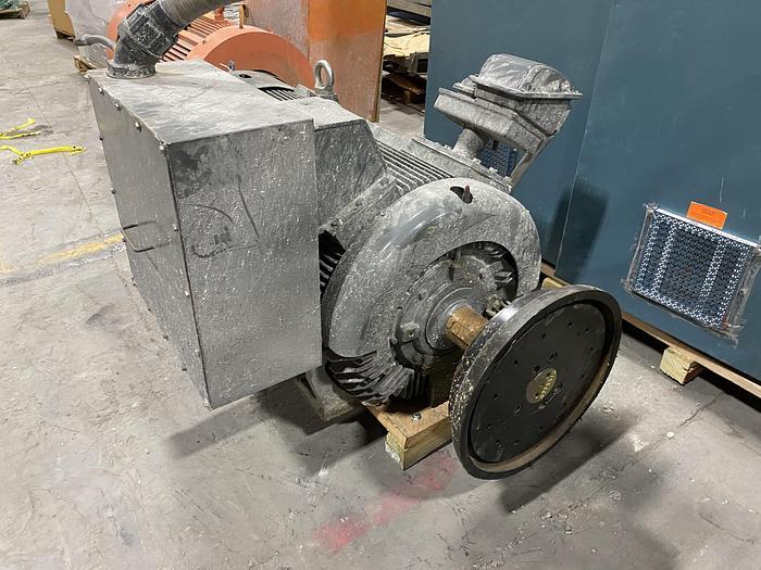 Used 450 HP TECO WESTINGHOUSE 1187 RPM MOTOR