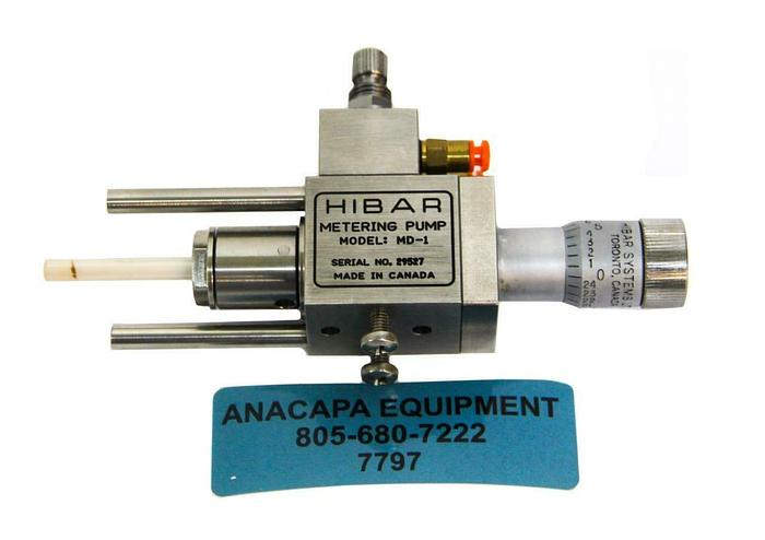 Used HiBar Systems MD-1 Metering Pump Micro Precision Dispensing (7797) W