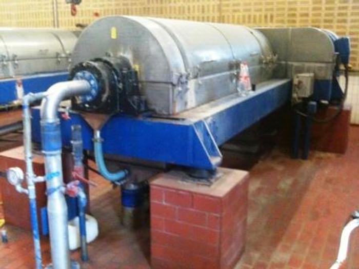 Used Westfalia sludge dewatering decanter, type DDS 800 LY