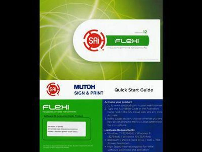 Used RIP Software SAI Flexi version 12 for Mutoh printers