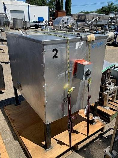 2 Compartment Stainless Steel Jacketed & Insulated Heated Coating Tank