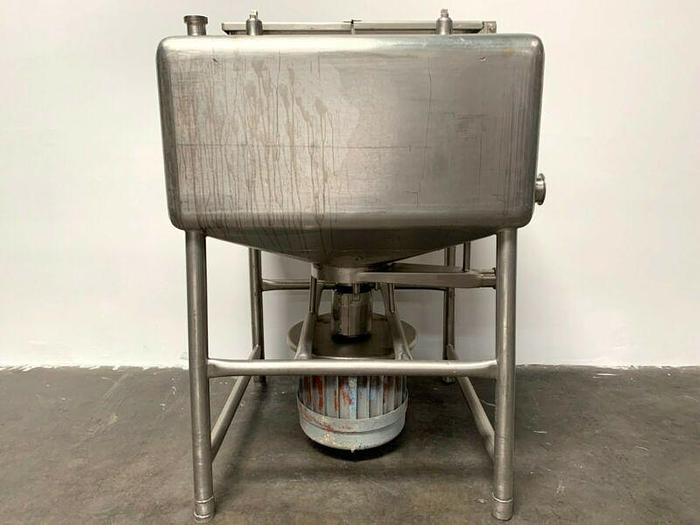 Used Likwifier - 150 Gallon Stainless Steel Liquefier w/ bottom mounted 15 HP motor