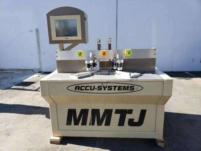 Accu-Systems MMTJ-3 Miter Door Machine; Miter - Mortise and Tenon Machine
