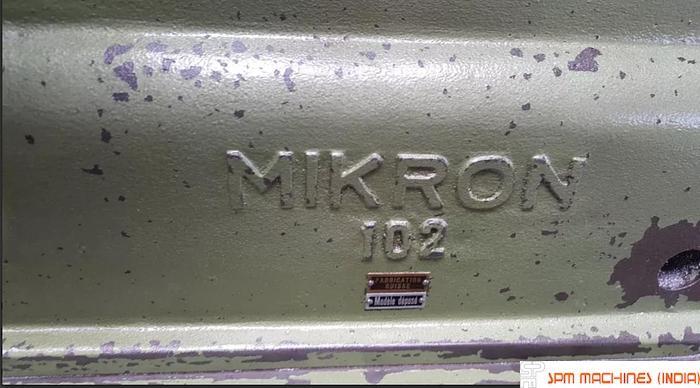 Mikron 102 Gear Hobbing