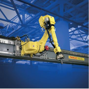 "FANUC M710iC/70T GANTRY ROBOTIC SYSTEM, R30iA, 8' TALL RAIL X 11'6"" OF TRAVEL"