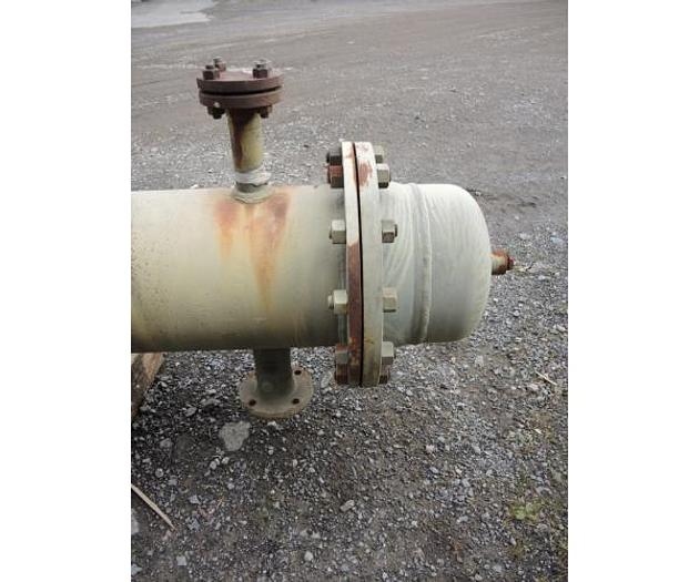 USED HEAT EXCHANGER, SHELL & TUBE, 198 SQ. FT., CARBON STEEL
