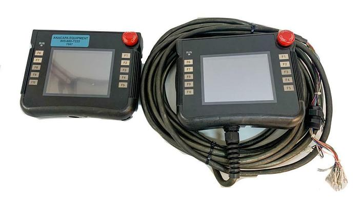 Used Omron NSH5-SQR10B-V2 Interactive Display Handheld Terminal Lot of 2 (7667) W