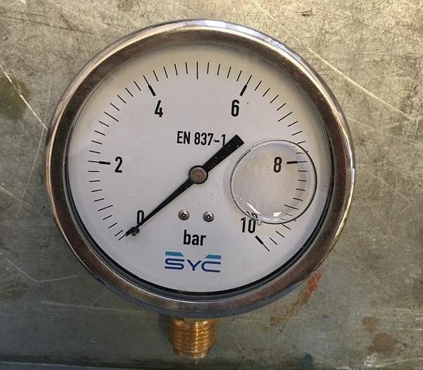 SYC Radial Pressure Gauge 0-10 bar