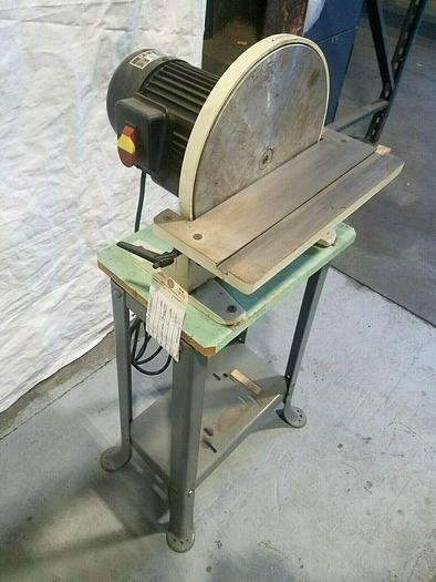 """Used 12"""" Industrial Disc Sander 1 HP 110V Wood or Metal Sanding"""