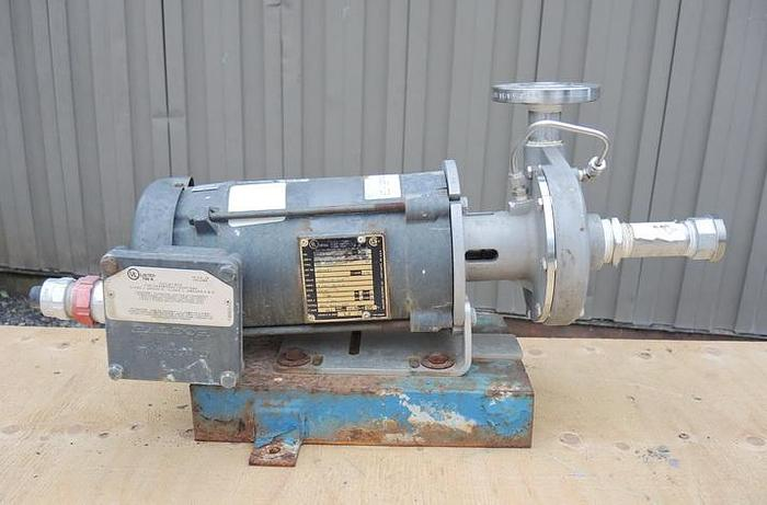 "USED CENTRIFUGAL PUMP, 1.25"" X 1"" INLET & OUTLET, 316 STAINLESS STEEL"