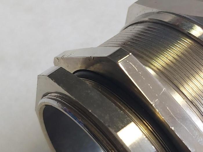 2 Stk. Kabelverschraubung, MS 63 x 1,5, Messing vernickelt, Skintop,  neu -50%