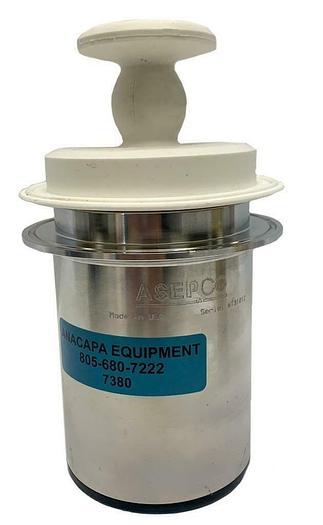 "Used Asepco 3.5"" Radial Tank Valve AJS Pneumatic Actuator Silicone Diaphragm (7380) W"