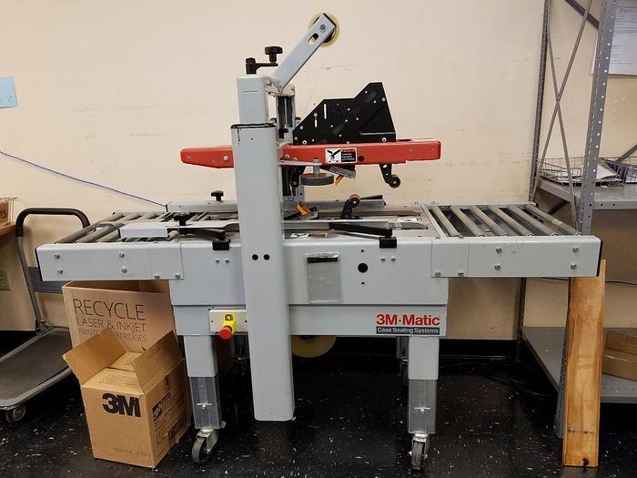 Used 3M MODEL 200A ADJUSTABLE CASE SEALER W/ ACCUGLIDE II TAPING HEADS