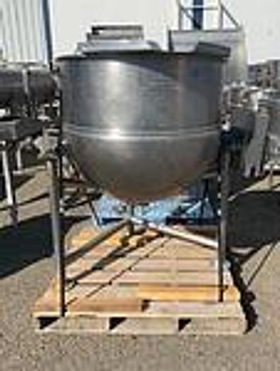 "Used 1997 GROEN D1-100 TILTING 100 GALLON ""DIRECT"" STEAM KETTLE  (691C) D1-100, only @ AMERICA'S STEAM KETTLE HEADQUARTERS !"