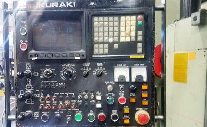 "1990 KURAKI KBT-13-DX 5.1"" CNC TABLE TYPE BORING MILL"