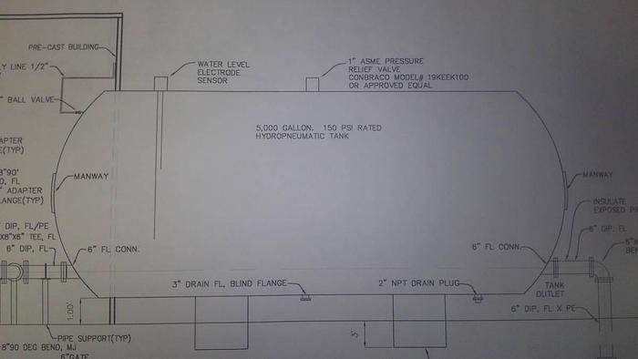 2018 5,000 Gallon New Steel Pressurized Water Tank  B35011