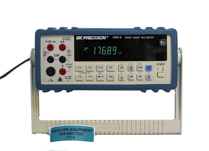 Used BK Precision 5491A 50,000 Count Digit Dual Display Bench Multimeter (7713) W