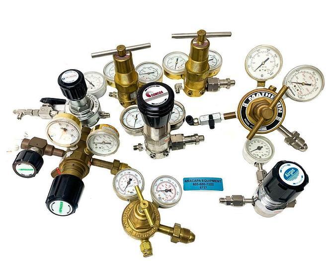 Used Concoa, Matheson, Praxair, Victor Various Models of Gas Regulators Lot of 8 6737