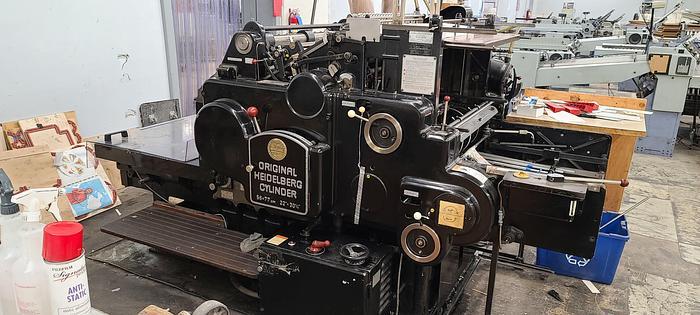 Used Heidelberg SBG Cylinder Diecutter