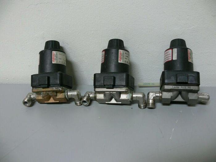 Used Lot of 3 - Gemu 615/12/D PST. 7, 90 Grad C Diaphragm Valves