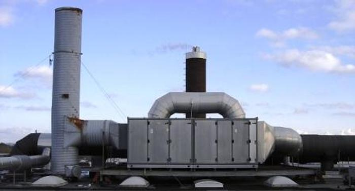 Used Active coal air filtration system with capacity of 40.000 m3/h.