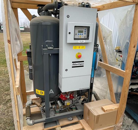 Used ATLAS COPCO MODEL BD250 DESSICANT COMPRESSED AIR DRYER-NEVER USED