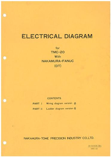 Used Manual for Used Nakamura CNC Turning Machine TMC 20 Electrical Diagram With Fanuc OT