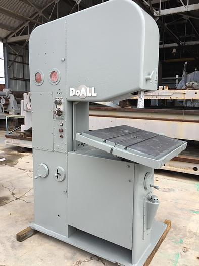 """Used 26"""" DoAll Mdl. 2612 Vert. Band Saw; Pwr. Feed Tbl."""