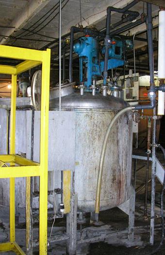 700 Gal Acme Indutrial Stainless Steel Jacketed Mixing Vessel