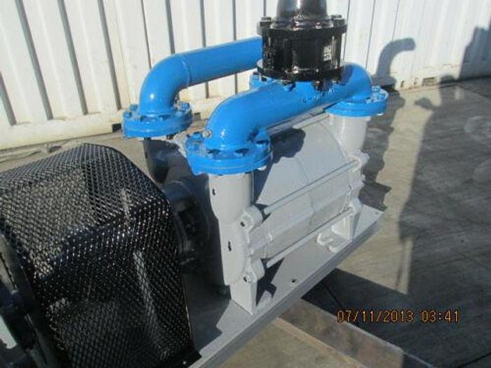 75 HP SUTORBILT LIQUID RING VACUUM PUMP W/ MOTOR, SKID, AND CONTROLS