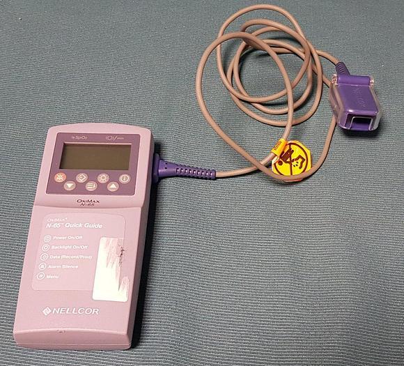 Gebraucht Nellcor OxiMax N-65 Portable Pulse Oximeter mit Sensor DS100A