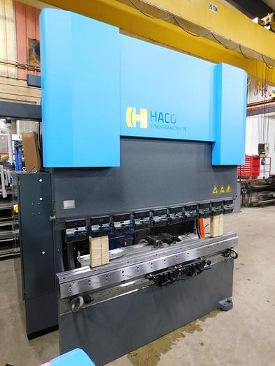 """NEW Haco 80"""" x 82 Ton Servo Hydraulic Press Brake Syncromaster SRM7565XR"""