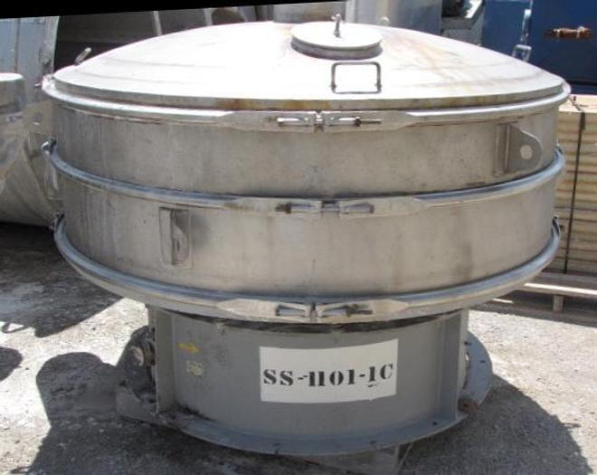 "USED SWECO SCREEN, 72"" DIAMETER, STAINLESS STEEL, SINGLE DECK"