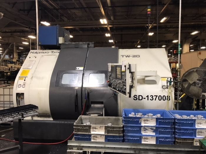 NAKAMURA TOME TW20 TWIN SPNDL TWIN TURRET WITH MILLING